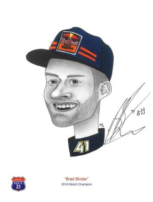 Caricature of Brad Binder