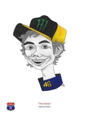 Caricature of Valentino Rossi