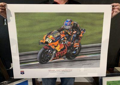 Brad Binder MotoGP signed print size