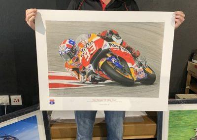 Marc Marquez signed print size