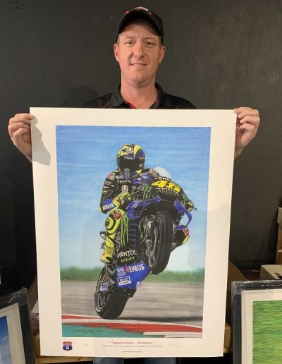Valentino Rossi Pastel drawing size