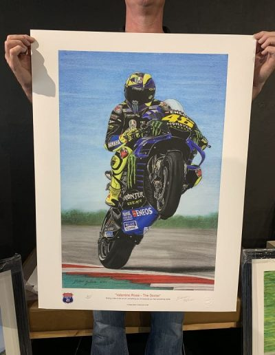 Valentino Rossi Pastel drawing size unframed
