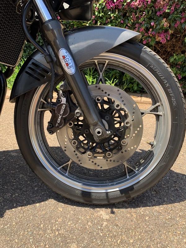 Katana 400 front wheel